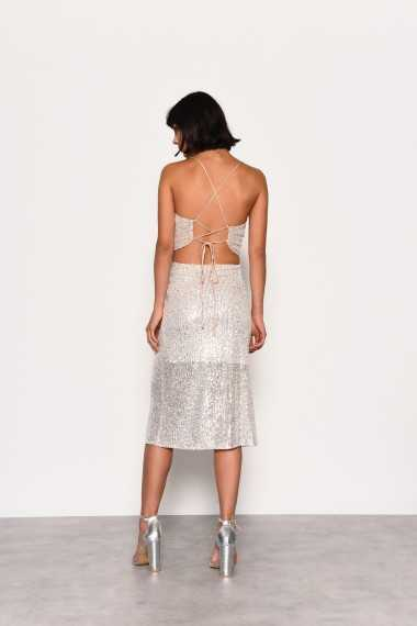 Sequinned Midi Skirt
