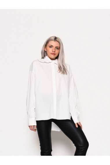 Long Sleeve Shirt with Frill Collar Detail