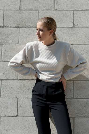 Padded Shoulders Sweatshirt