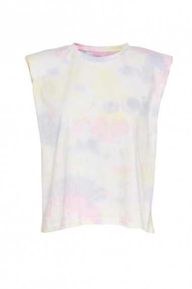 T-shirt Tie Dye Avec Épaulettes