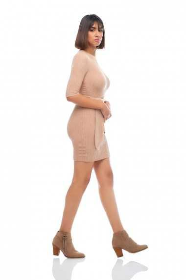 Emma Mini Dress (Stone)