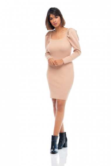 Kate Knit Jumper Dress (Stone)