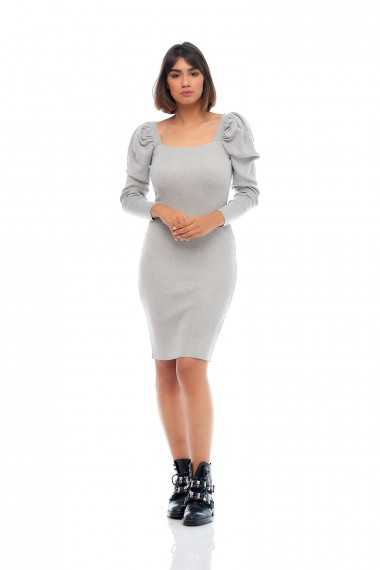 Kate Knit Jumper Dress (Grey)