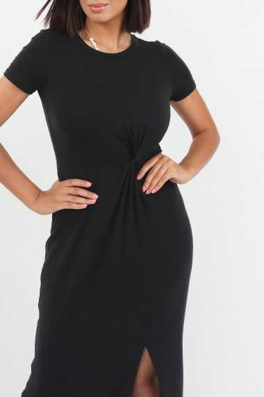 T-shirt Ankle Dress with Knot Detail