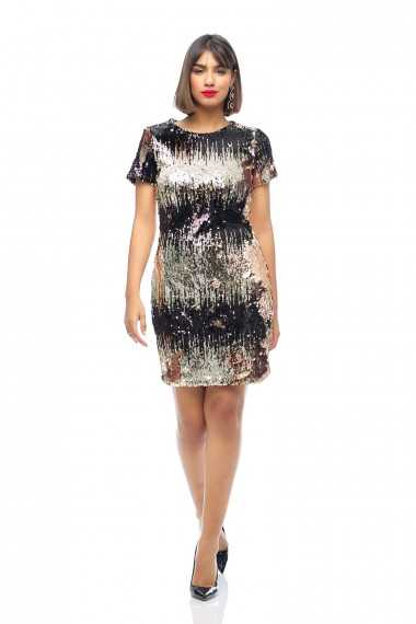 Colette Multi Sequin Mini Dress
