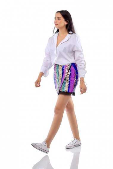 Blaze Sequin Mini Skirt