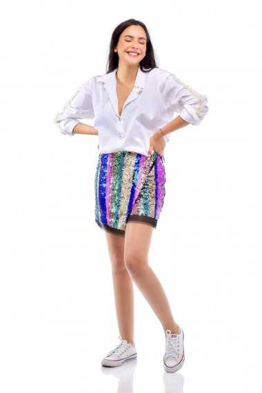 Blaze Sequin Mini Skirt