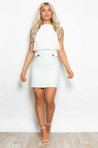 Mandy Tweed Skirt Dress